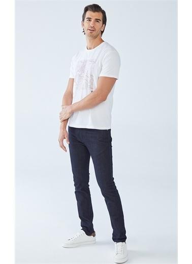 Boris Becker Slim Fit Baskılı Erkek T-Shirt Beyaz